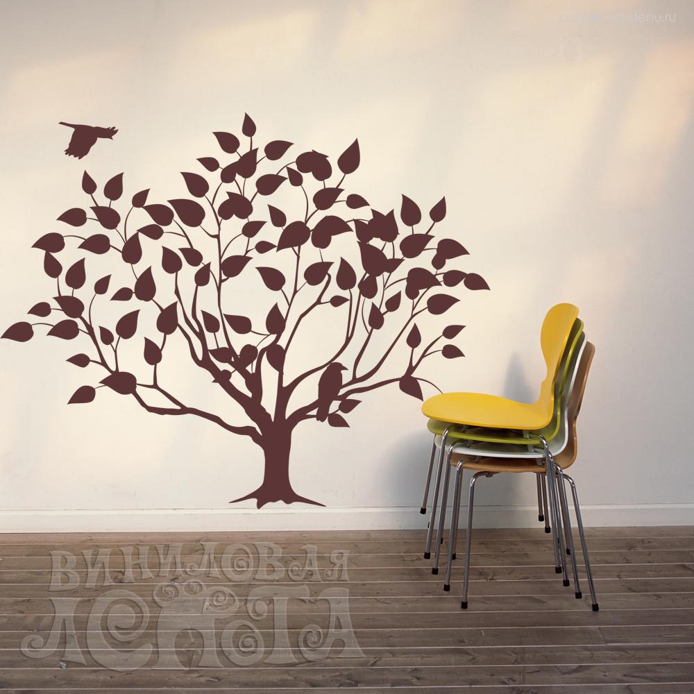 Деревьев трафареты раскраска листья