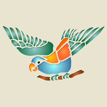 Тропический попугай