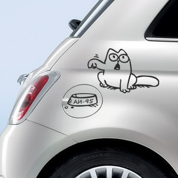 Кот саймона на бензобаке